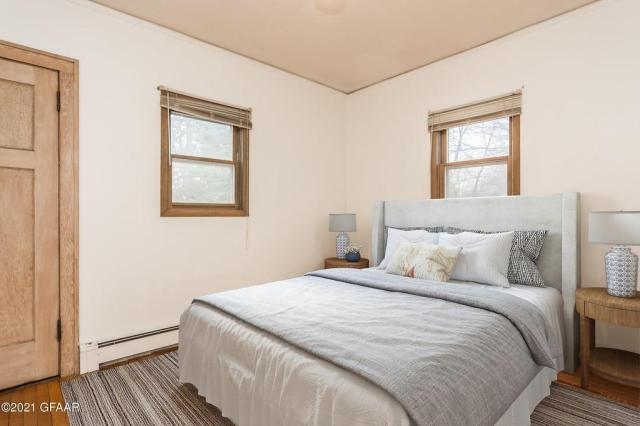 Bedroom featured at 107 Riverside Dr, Stephen, MN 56757