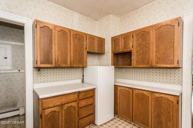 Kitchen featured at 107 Riverside Dr, Stephen, MN 56757