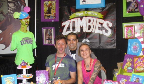 Me with the lovely crew of High Fructose Zombies