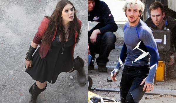 Scarlet Witch and Quicksilver in Avengers: Age of Ultron