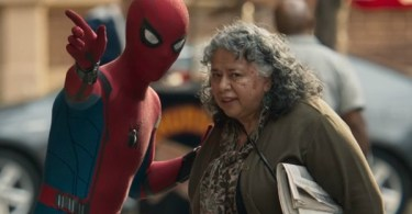 Spider-man helping lady