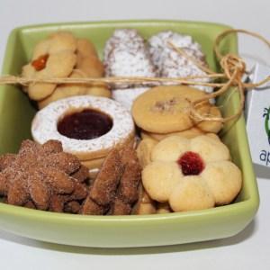 Plato botanero con galletas surtidas