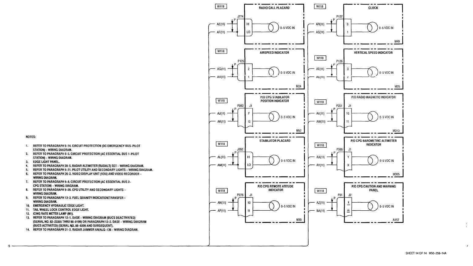 Sheet 14 Of 14 M50 258 14a