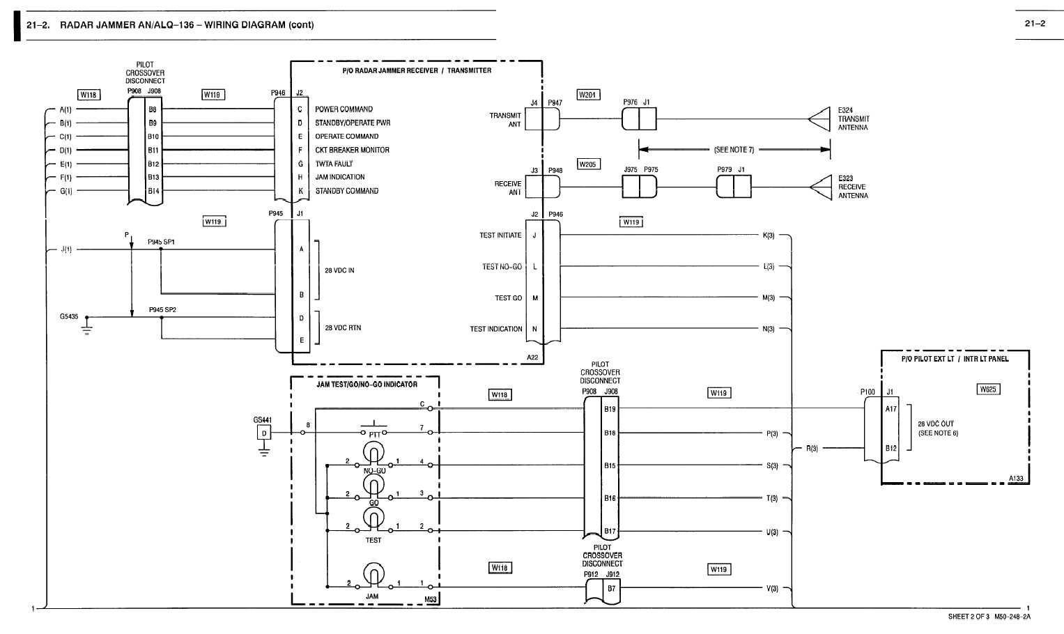 21 1 Radar Jammer An Alq 136 Wiring Diagram Cont