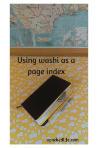 Washi tape to index planners and journals