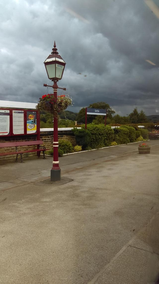 Watching the weather roll in at Settle Station on the Settle Carlisle Line