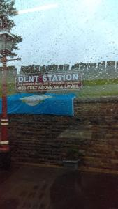Dent Station: Highest mainline station in England, and also possibly the wettest on the day of our visit