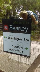 An ursine commuter in pursuit of a train: A Bear at Bearley Station