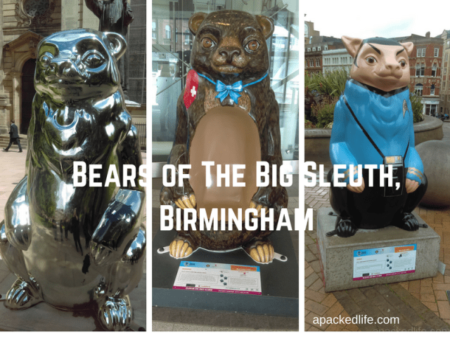 Public Art Installation - The Big Sleuth - in Birmingham 2017. We got bears!