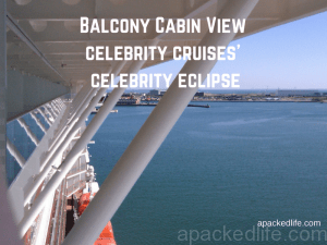 Plenty of room to chill and take the sea air from a balcony cabin on Celebrity Eclipse cruise ship
