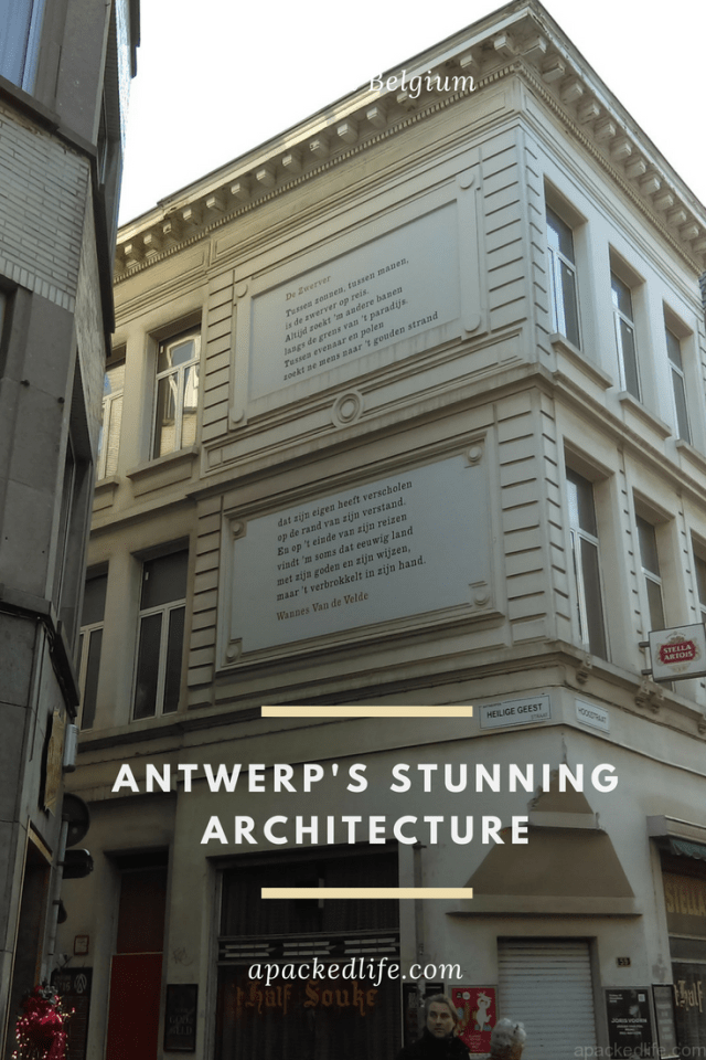 Antwerp Belgium Beautiful Architecture Quote on Building