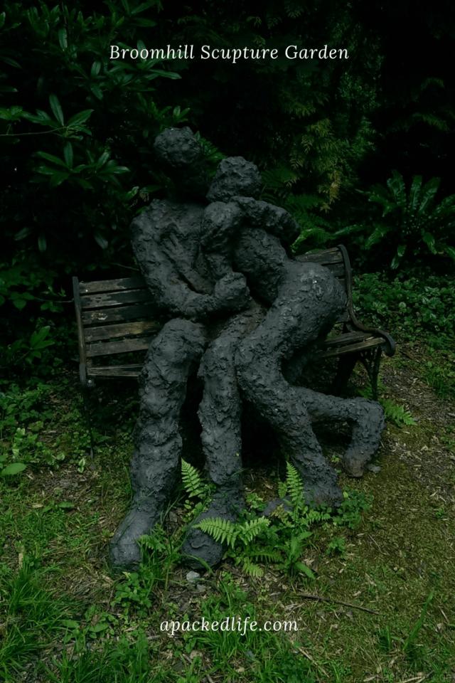 Broomhill Sculpture Garden - Sophie White's The Lovers