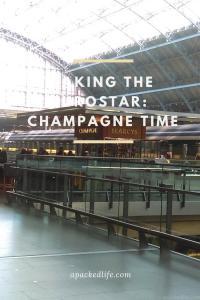 Taking the Eurostar - St Pancras Champagne Bar