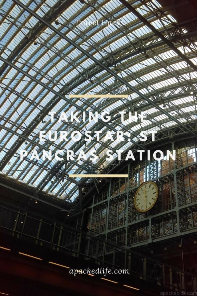 Taking the Eurostar - St Pancras Station