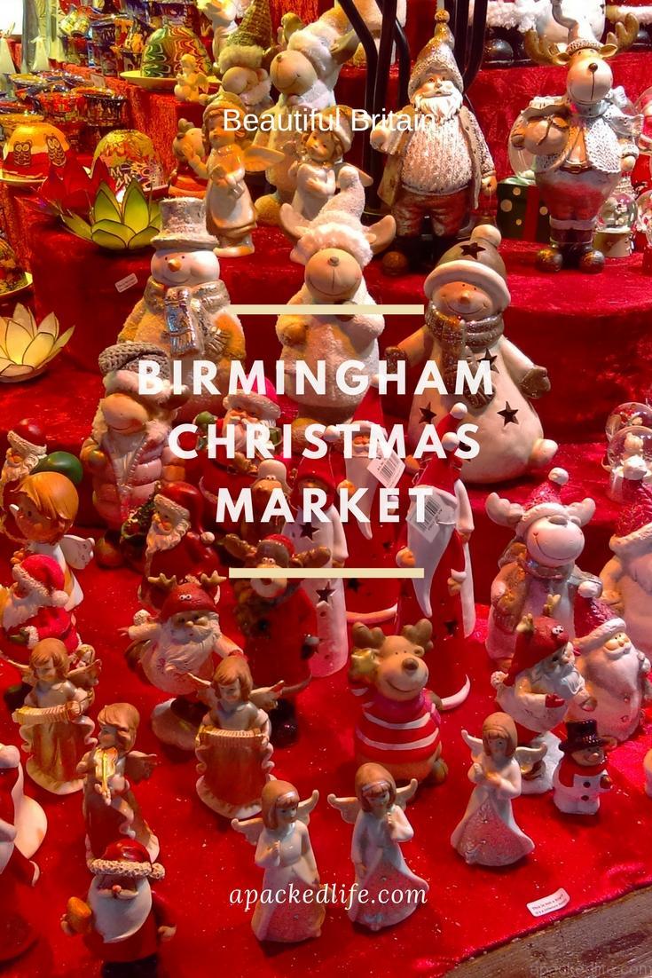 Birmingham Christmas Market - red ornaments