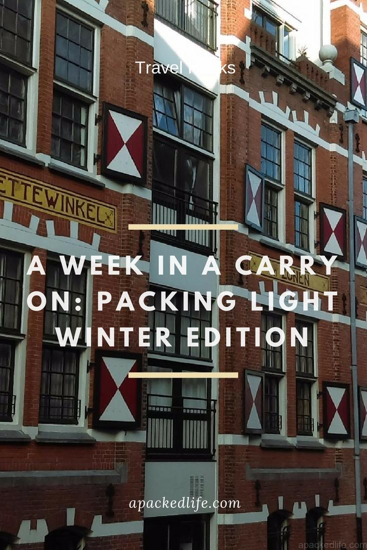a week in a carry on - packing light winter edition - Amsterdam