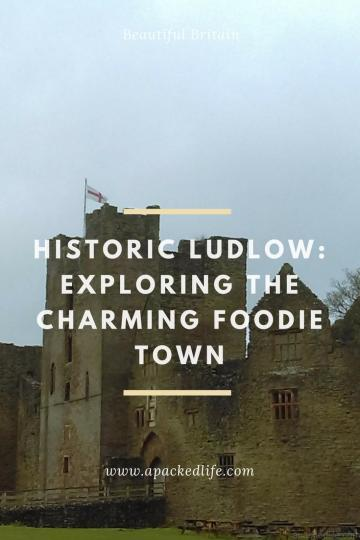 Historic Ludlow - exploring the charming foodie town - Ludlow Castle from the gate