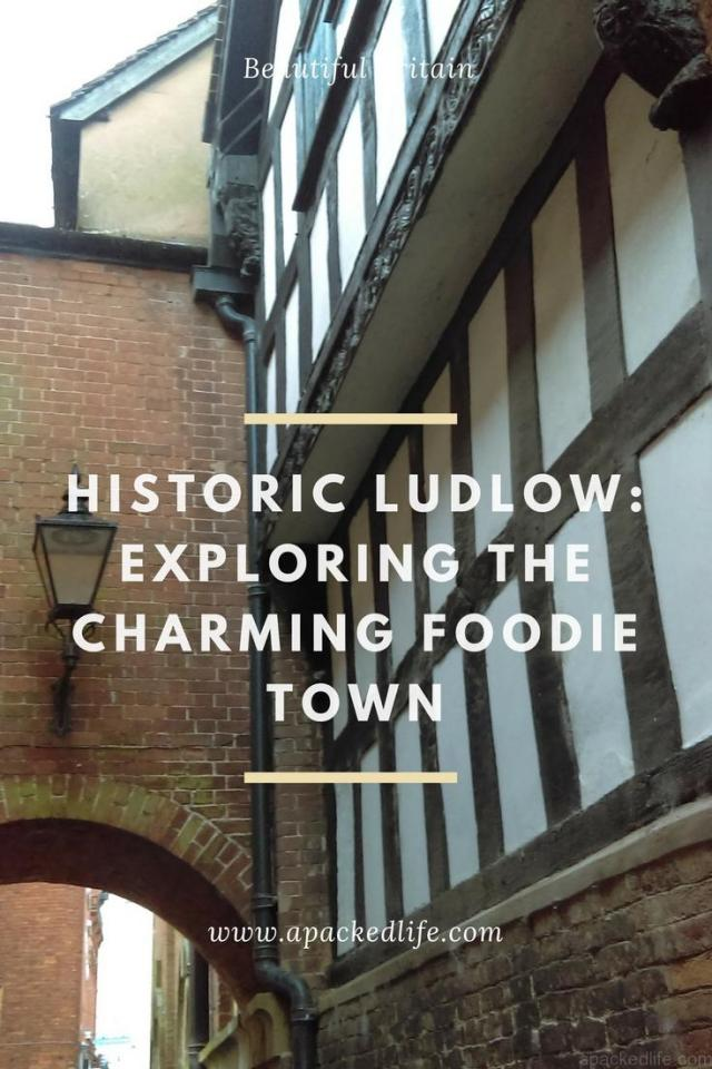 Historic Ludlow - exploring the charming foodie town - black and white building