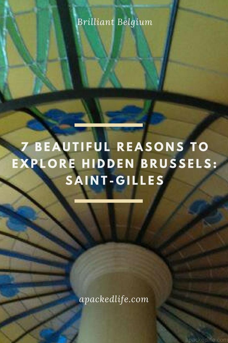 7 Beautiful Reasons To Explore Hidden Brussels Saint Gilles Art Nouveau Ceiling La Porteuse d'Eau