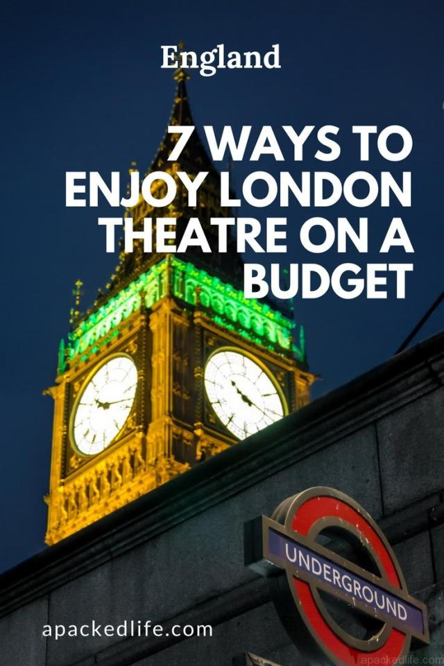 7 Ways To Enjoy London Theatre on a Budget - Big Ben at night