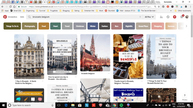 Vacation Inspiration - How To Use Pinterest To Plan Your Holiday - Sample Search - Belgium