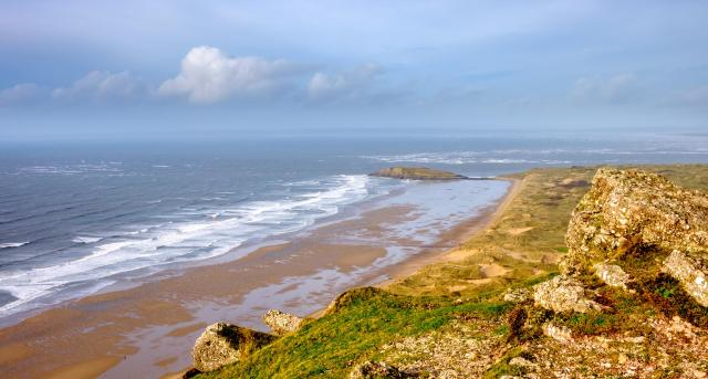 The 9 Best Beaches In Wales You Must Visit - Rhossili Bay