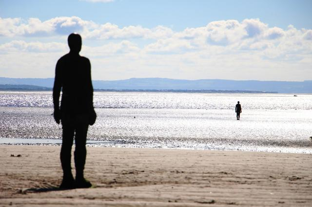 The 11 Best Beaches In England You Must Visit - Crosby Beach, Liverpool, Another Place by Antony Gormley