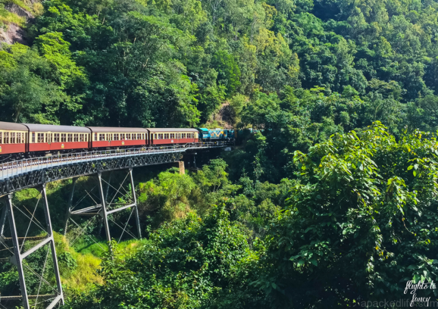 Great Rail Journeys Of The World Waiting To Be Discovered - Flights To Fancy_ Kuranda Scenic Railway Gold Class_ Train On Bridge-1