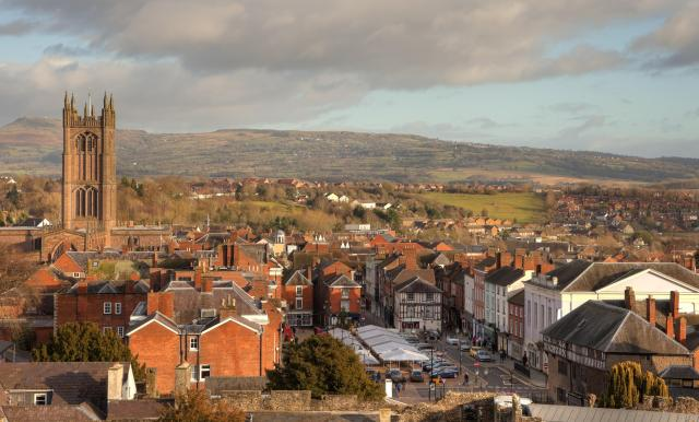 Undiscovered Places In England: View over Ludlow and the Shropshire Hills