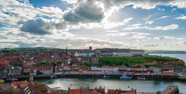Undiscovered Places In England: Coast of North Sea in Whitby of North Yorkshire UK