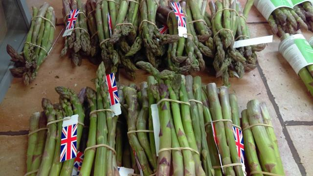 Blossom Trail in England's Vale Of Evesham - asparagus