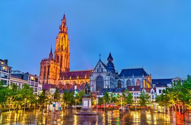 The Cathedral of Our Lady in Antwerp. A UNESCO world heritage site
