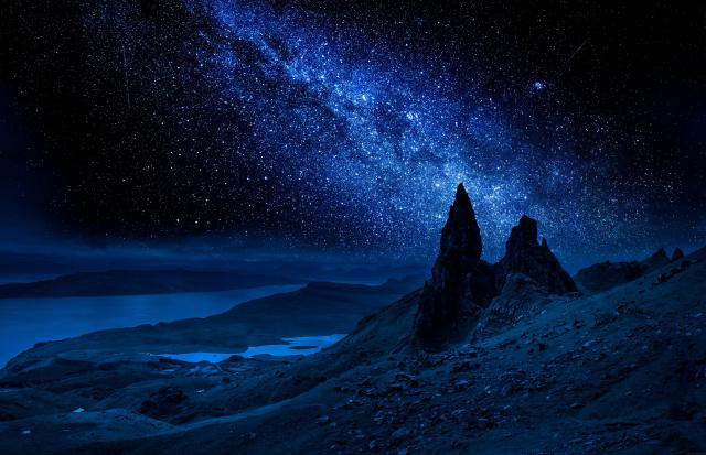 Milky Way over the Old Man of Storr