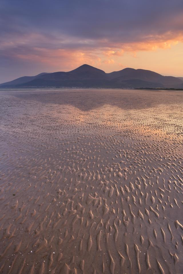 Northern Ireland Beaches - Mourne Mountains from Murlough Beach