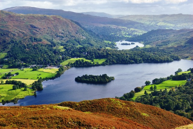 Grasmere from Silver Howe, Lake District, England