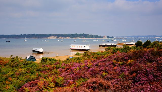 Secret England Hidden Gems: Brownsea Island from the coast at Poole