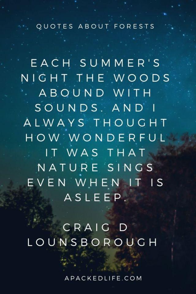 Quotes about forests - Craig D Lounsborough
