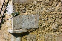 Inscribed cornerstone