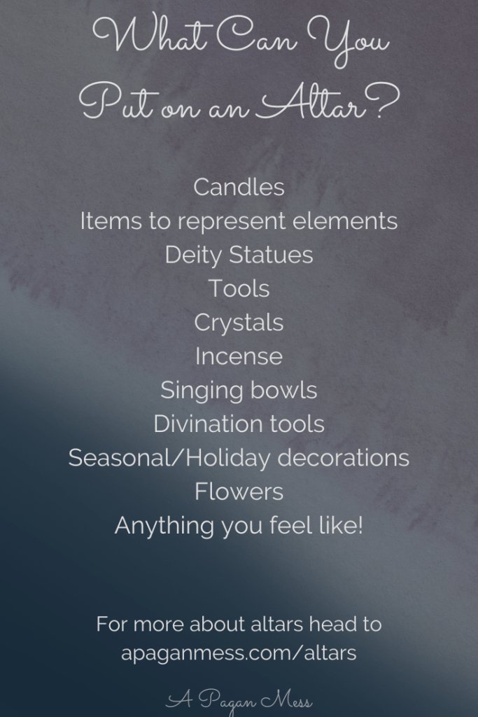 List of things to put on an altar