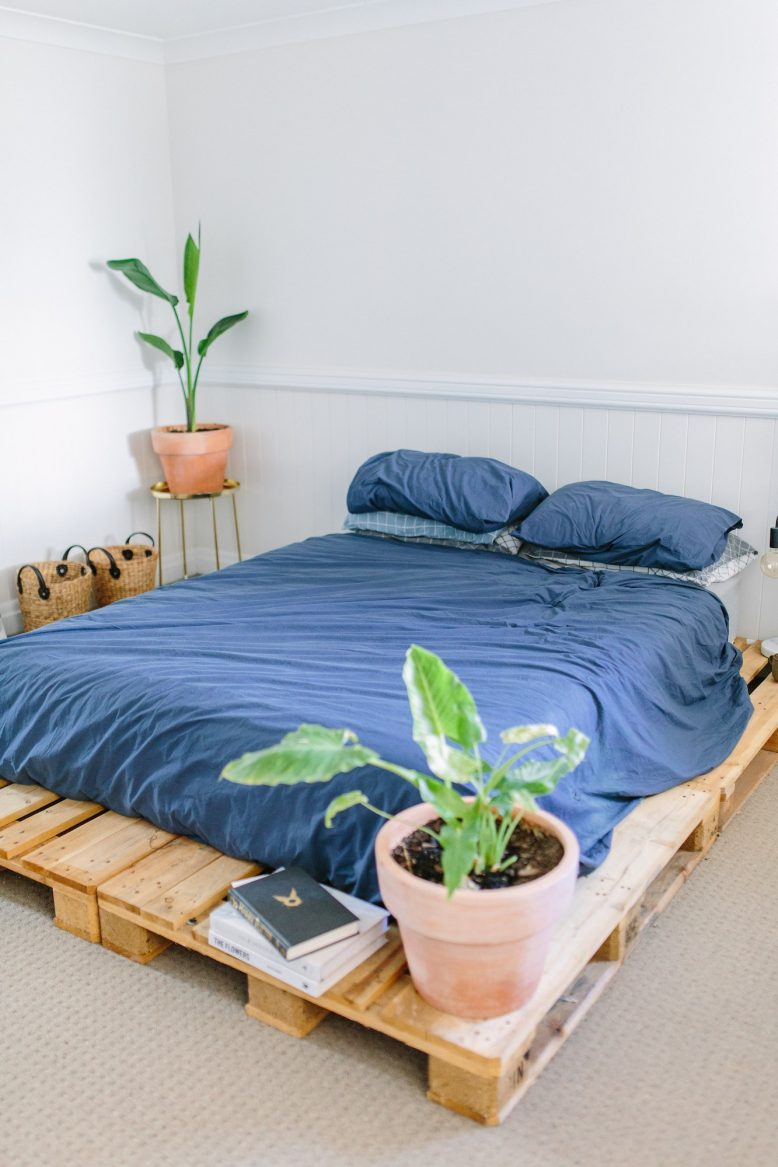 DIY Pallet Bed | A Pair & A Spare on Pallet Bed Room  id=26919