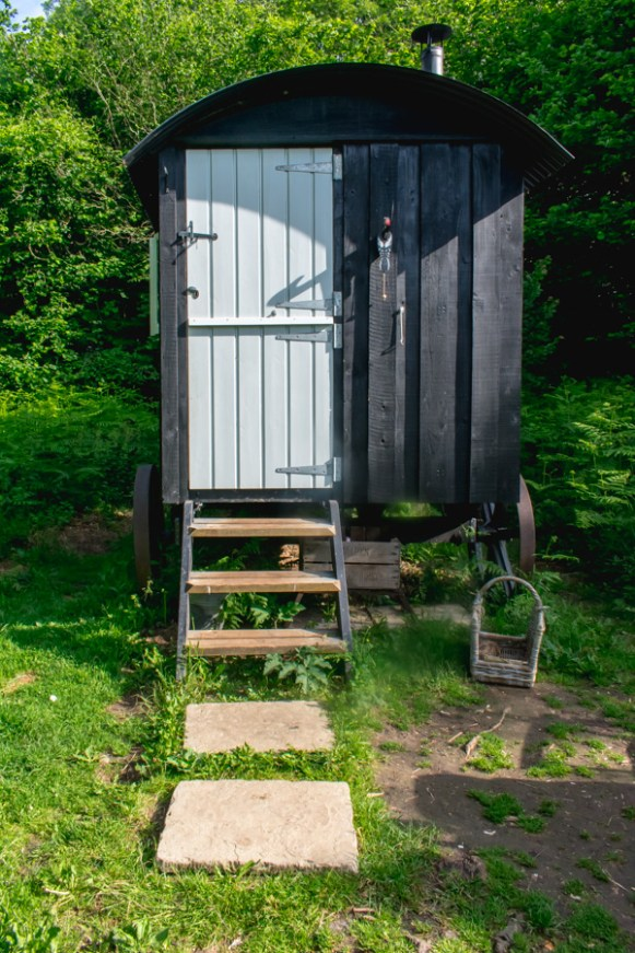 Wriggly Tin Shepherds Huts - Old Winchester - Glamping in Hampshire