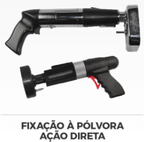 Pistolas para fixação à pólvora por ação direta.
