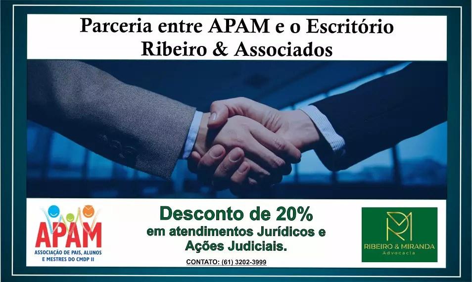 PARCERIA ENTRE APAM E O ESCRITÓRIO RIBEIRO E ASSOCIADOS