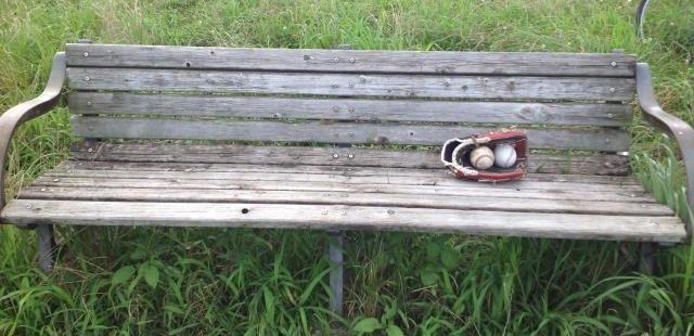 野球観戦ベンチ