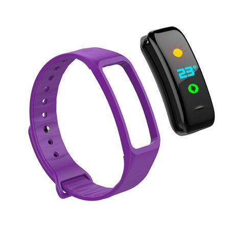 "Bratara Fitness Sport FIT C1+, 0.96"" Color OLED, Waterproof ip67,  Pedometru, Notificari, Purple"