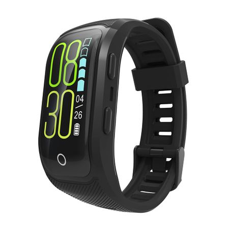 Bratara fitness MoreFIT™ S908s Premium Color, GPS, Android, iOS, notificari, negru