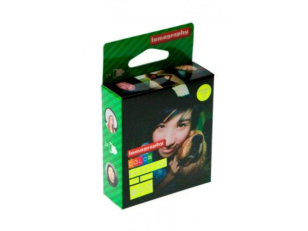 Lomomography Lomo Color Negative 800 czuły film 120 3pak - klisza do średnioformatowego aparatu analogowego (np 6x6, 6x7, 6x4,5) typu 120