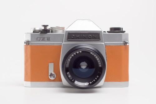 aparat analogowy CHINON CX II z obiektywem M42 Hanimar 35mm