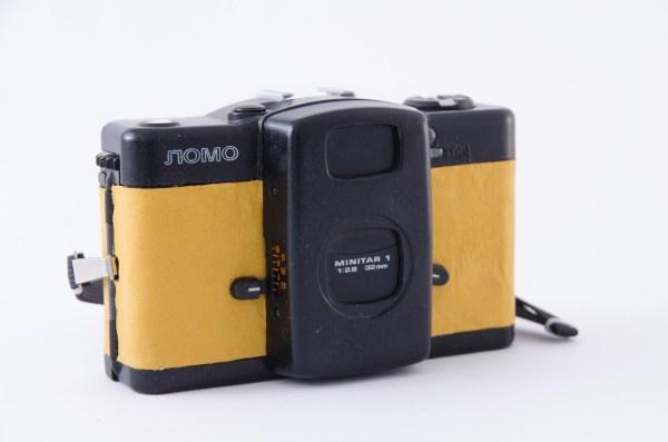 Kompakt Lomo LC-A z indywidualną okleiną (brązowy)