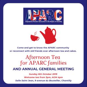 Welcome Tea + AGM 2019 APARC